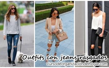 Moda con pantalones rasgados