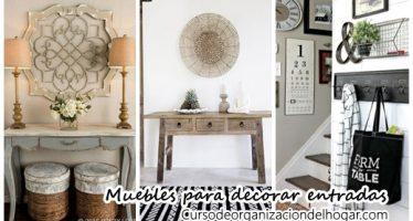 Muebles para decorar la entrada de tu casa