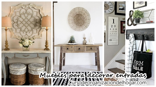 Muebles para decorar la entrada de tu casa curso de for Decoracion entrada casa