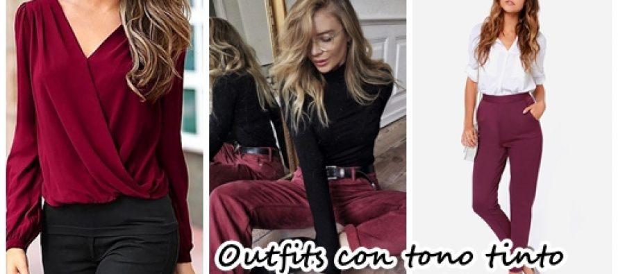 Outfits con combinaciones en tono tinto