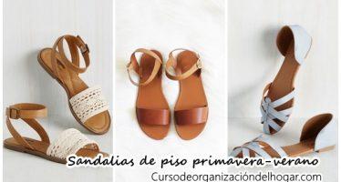 Sandalias de piso que debes tener esta temporada primavera-verano