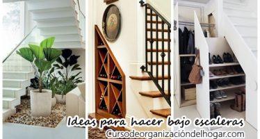 Te damos 20 ideas de que puedes hacer debajo de las escaleras