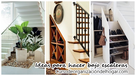 Te damos 20 ideas de que puedes hacer debajo de las for Decoracion debajo escaleras