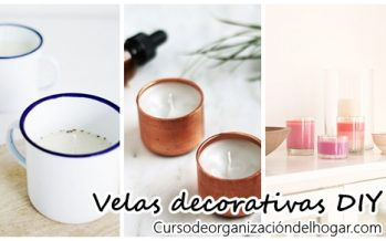 Velas decorativas DIY