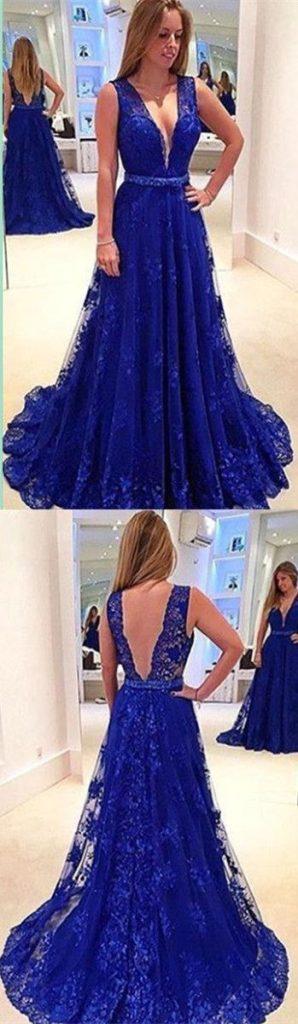 Vestidos De Graduacion Color Azul Rey In3e8238