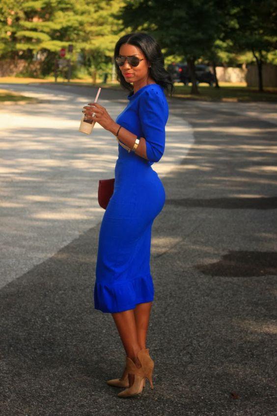 23 Vestidos De Fiesta Color Azul Rey Curso De Organizacion