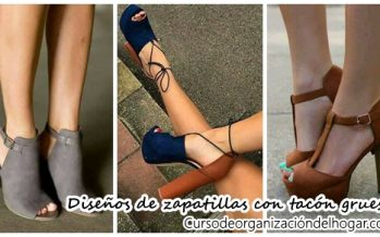 28 Diseños de zapatillas con tacon grueso