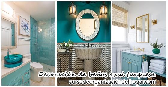 Baños Decorados | 30 Disenos De Banos Decorados Con Azul Turquesa Curso De