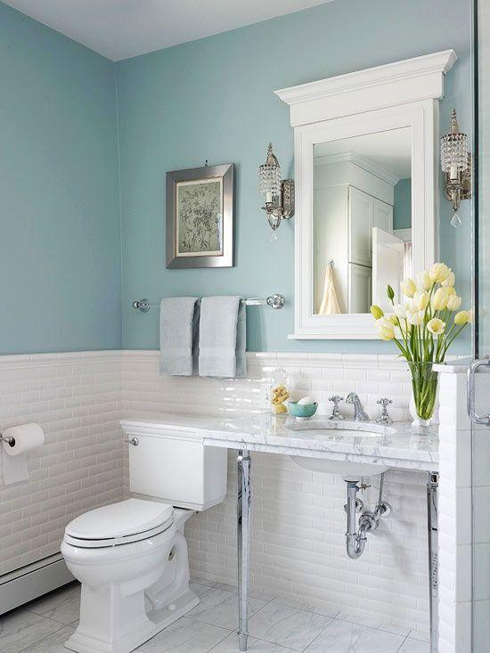 30 disenos de banos decorados con azul turquesa 4