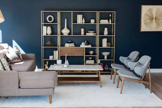 30 diseños de repisas y estantes para salas de estar - Curso de ... 58c0434644cd