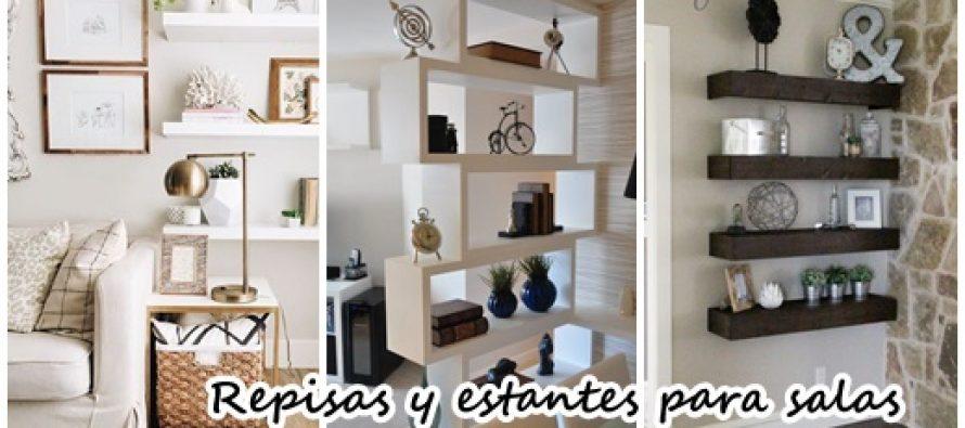 30 dise os de repisas y estantes para salas de estar for Decoracion repisas para pared