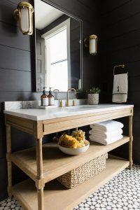 30 Ideas para decorar tu baño con blanco y negro