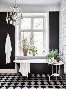 30 Ideas para decorar tu baño con blanco y negro