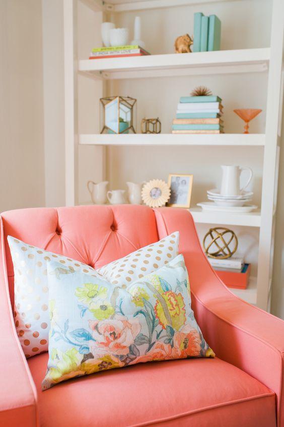 30 Ideas para decorar tu casa con el color coral