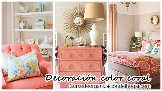 30 ideas para decorar tu casa con el color coral curso for Ideas para tu casa decoracion