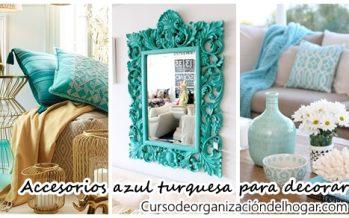 31 accesorios para decoración de interiores color turquesa