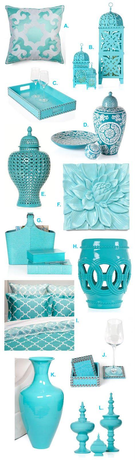 31 accesorios para decoracion de interiores color turquesa for Accesorios para decoracion de interiores