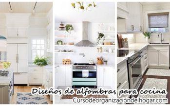 32 Diseños de alfombras para cocinas