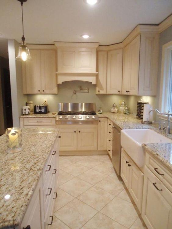 32 disenos de pisos para una cocina mas elegante 13 curso de organizacion del hogar y - Cocinas para pisos pequenos ...