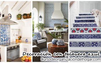 32 Ideas para decorar con talavera azul