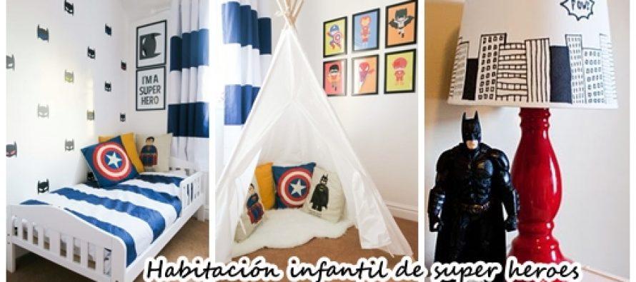 32 Ideas para decorar un cuarto de niños con tema de super heroes