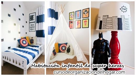 32 Ideas para decorar un cuarto de niños con tema de super ...