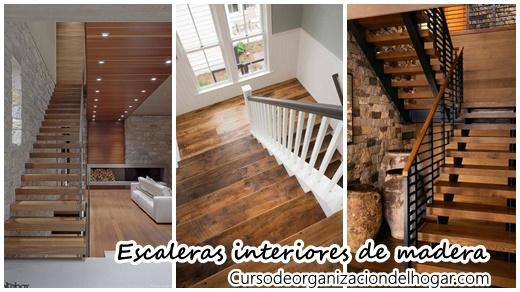 33 escaleras de madera ideales para darle personalidad tu for Escaleras de madera interior precio