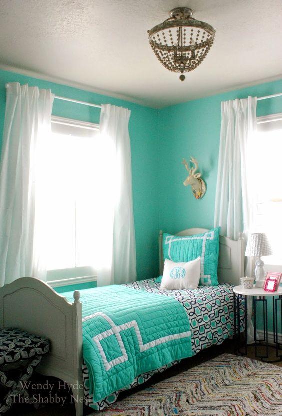 33-habitaciones-decoradas-con-azul-turquesa (2) - Curso de ...