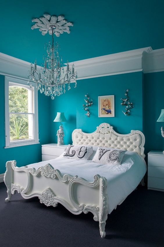 33 habitaciones decoradas con azul turquesa 25 curso for Cuartos decorados azul
