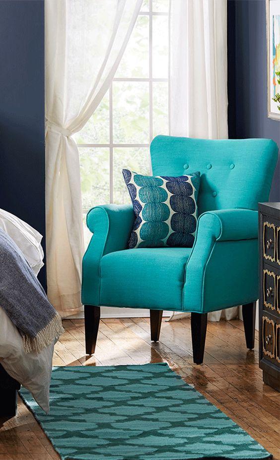 33 habitaciones decoradas con azul turquesa 27 curso for Decoracion de salas en turquesa