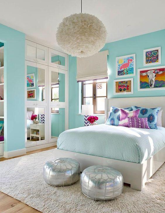 Baby Blue Bedroom Girl: 33-habitaciones-decoradas-con-azul-turquesa (3)