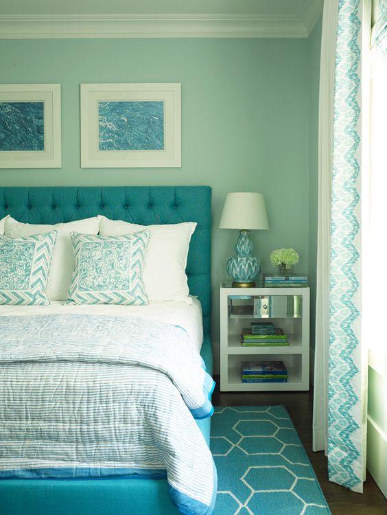 33-habitaciones-decoradas-con-azul-turquesa (9) - Curso de ...