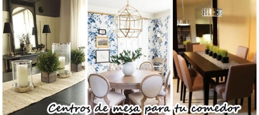 34 dise os de centros de mesa para tu comedor curso de organizacion del hogar - Las mejores mesas de comedor ...