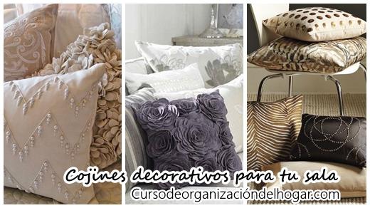 34 dise os de cojines decorativos para tu sala curso de organizacion del hogar y decoracion de - Diseno de cojines para sala ...