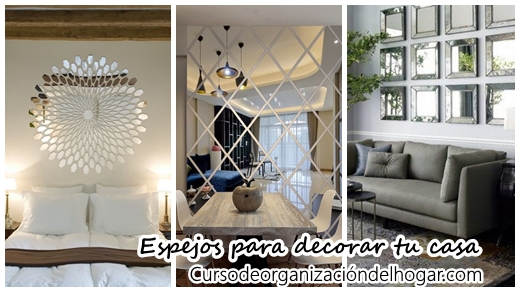 34 ideas para decorar con espejos curso de organizacion for Clases de decoracion de interiores