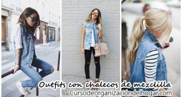 34 Outfits con chaleco de mezclilla