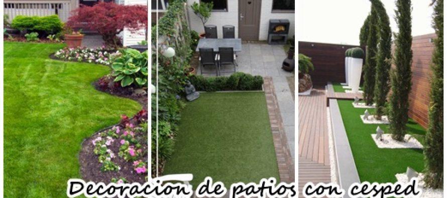 34  patios con cesped que te inspiraràn para decorar el tuyo