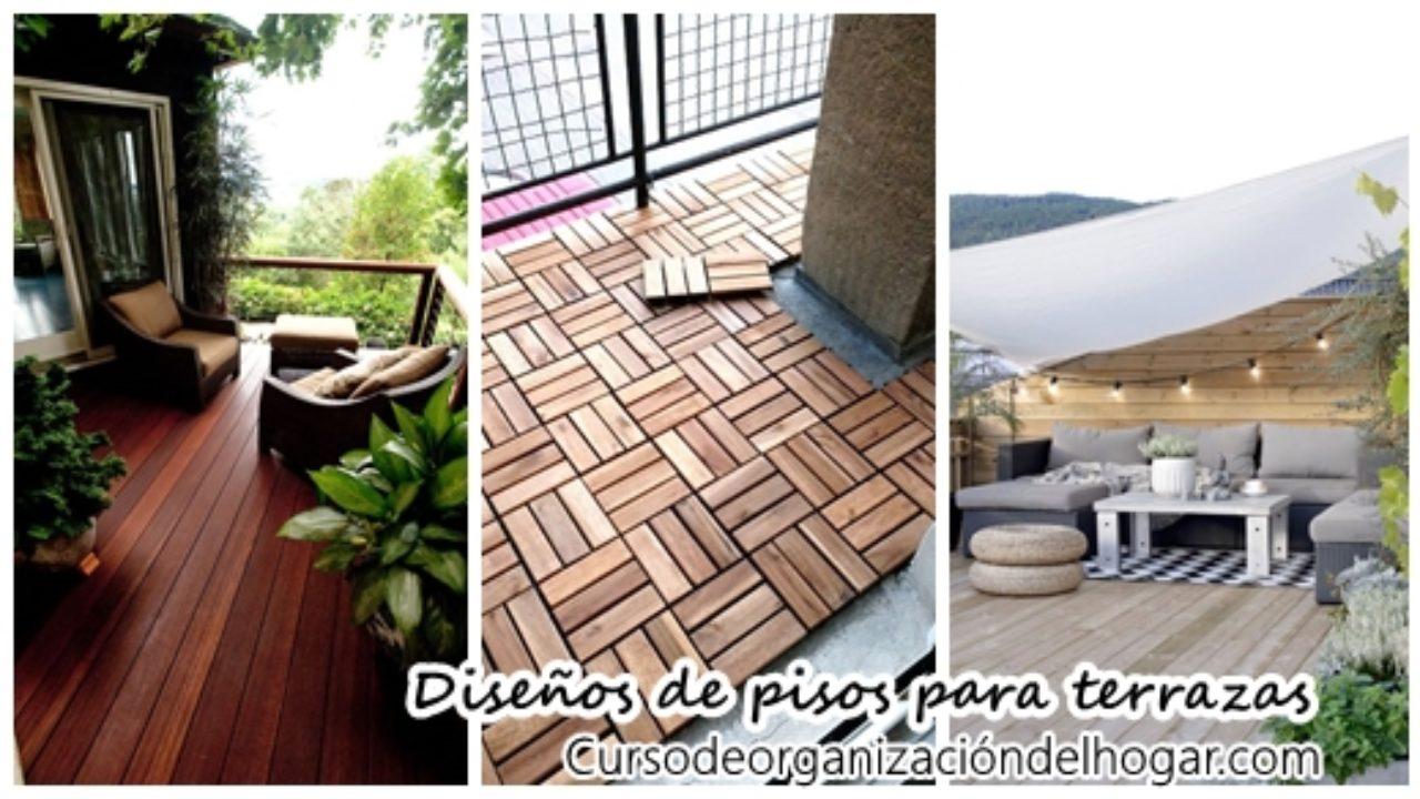 35 Diseños De Pisos Para Terrazas Curso De Organizacion