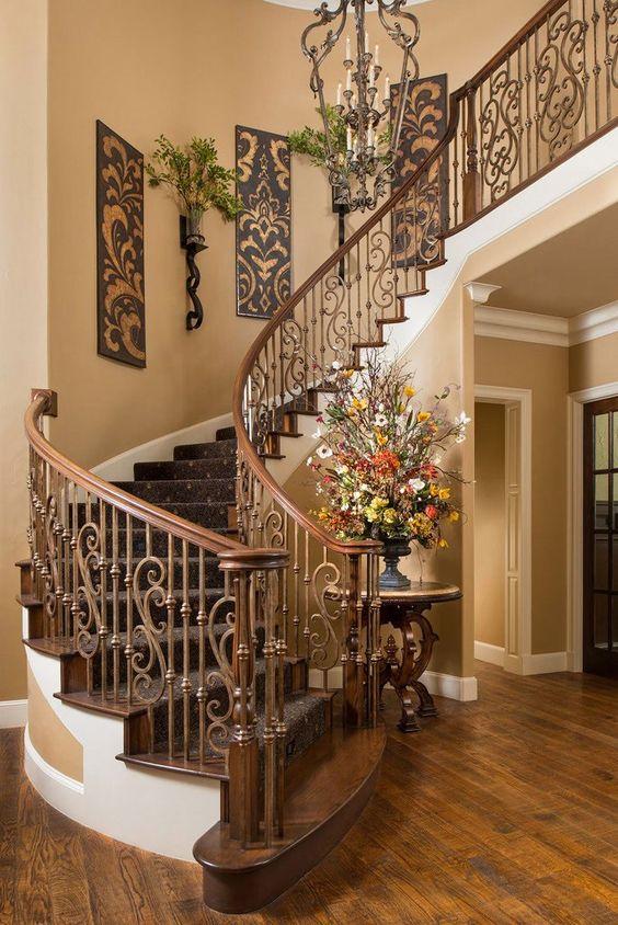 35 ideas para decorar el area de las escaleras 13 for Decorar rincones de escaleras