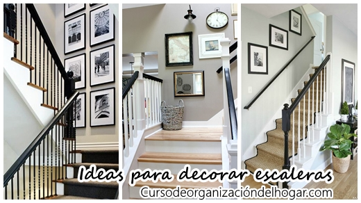 35 ideas para decorar el area de las escaleras curso de organizacion del hogar y decoracion de - Decorar escaleras interiores ...