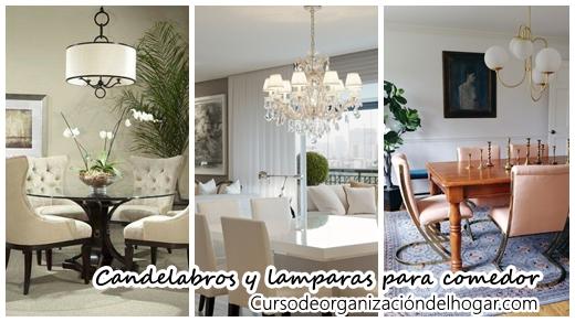 37 Candelabros y diseños de lamparas para decorar comedores - Curso ...
