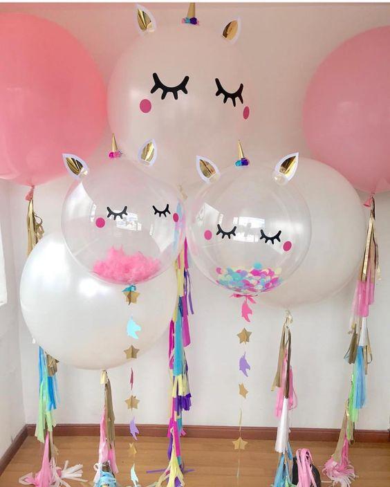 Adornos de unicornios para fiestas