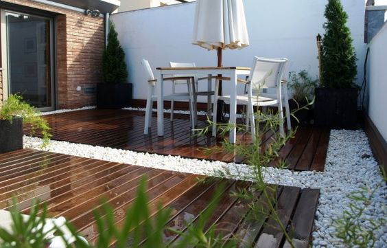 Decoraci n de exteriores con pisos de madera curso de for Decoracion para patios pequenos