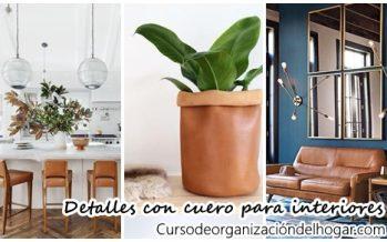 Detalles increibles para decorar tu casa con cuero