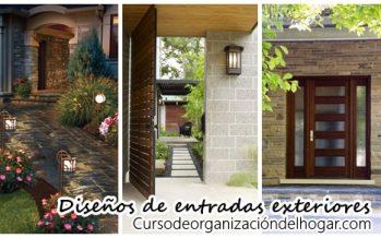 Diseños de entradas exteriores ¡Las mejores opciones 2017!