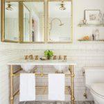 27 Baños decorados con blanco y dorado ¡Se ven preciosos!