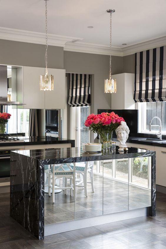 30 cocinas y comedores elegantes decoradas con blanco y for Comedores de cocina