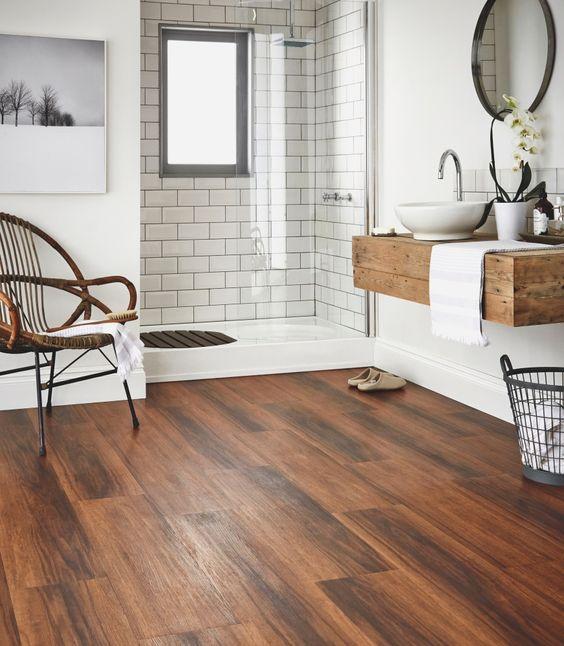 30 disenos de banos con piso de madera 1 curso de for Disenos de pisos para banos