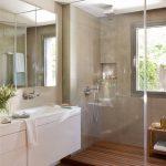 30 Diseños de baños con piso de madera
