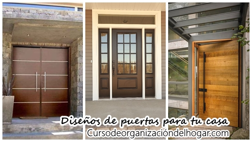 30 puertas de madera que har n lucir la entrada de tu casa for Decoracion de la puerta de entrada